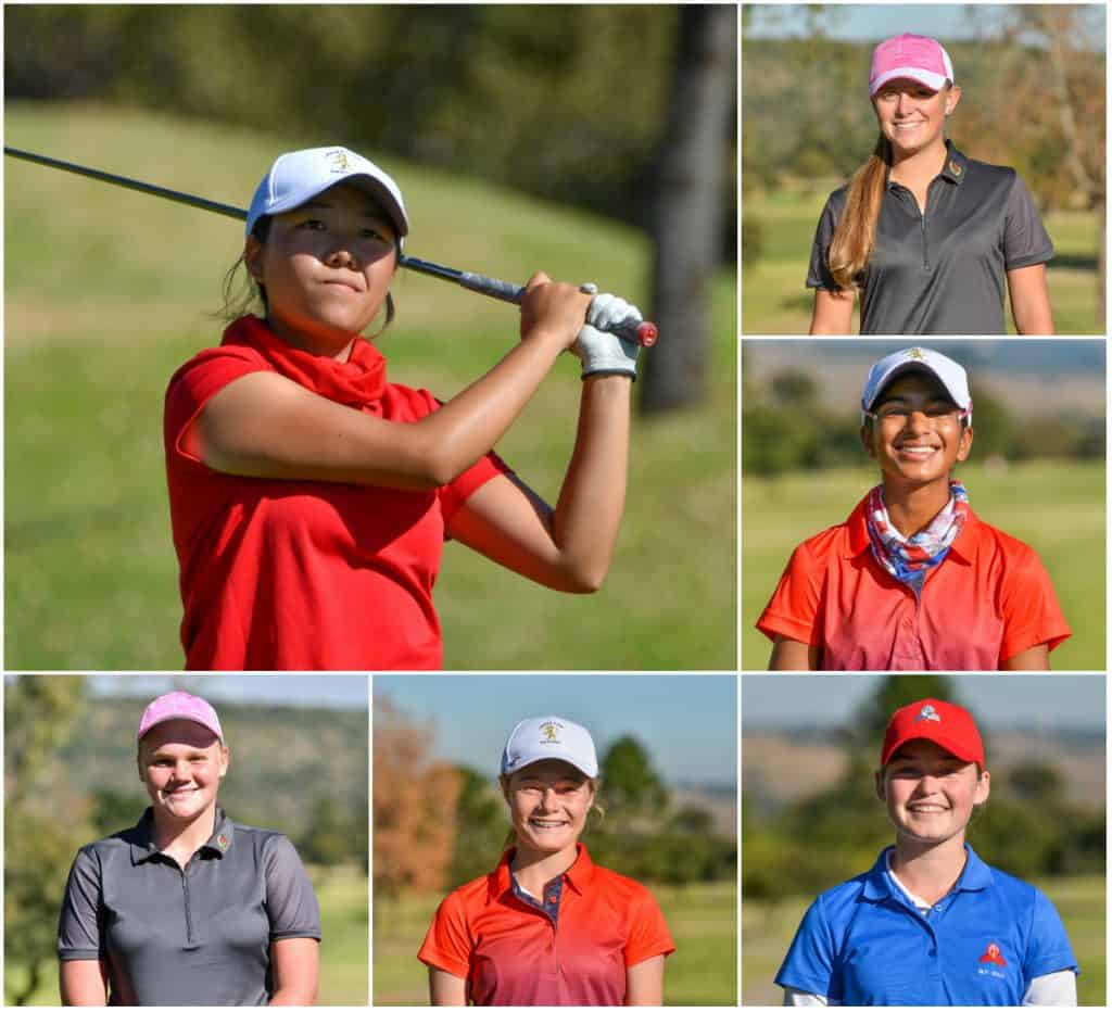 Defending champion Woo-Ju Son leads the first round of the Nomads SA Girls Championship at Orkney Golf Club; credit Ernest Blignault
