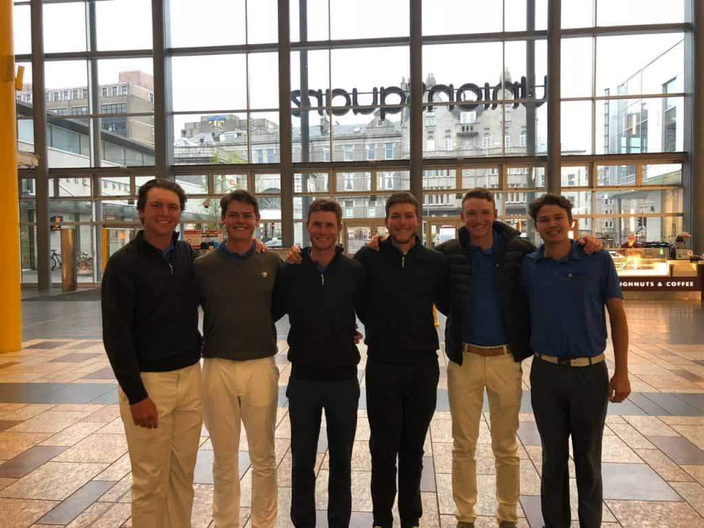 Smiles All Round! The six GolfRSA National Squad players who reached the knockout stages of the 123rd Amateur Championship at Royal Aberdeen in Scotland; credit GolfRSA