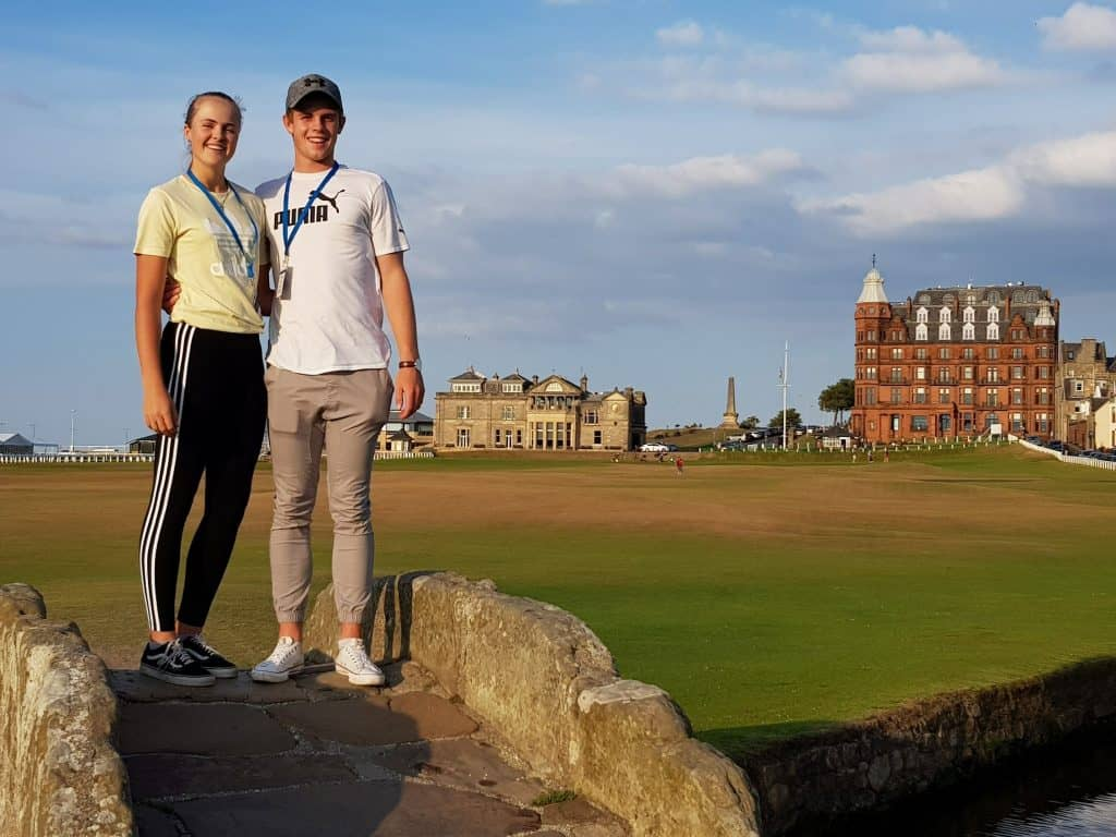 Martin Vorster and Kaylah Williams are representing South Africa in the 2018 Junior Open, staged by the R&A, at St Andrews in Scotland; credit GolfRSA.