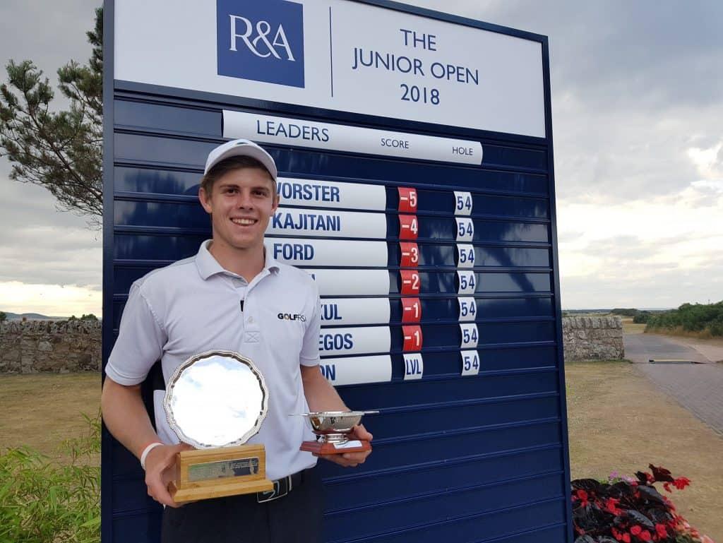 2018 Junior Open Championship winner Martin Vorster; credit GolfRSA