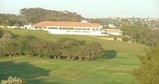 East London Golf Club house seen from the 7th Tee