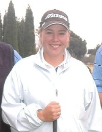 Kim Williams win the Amateur Trophy at the SA Open