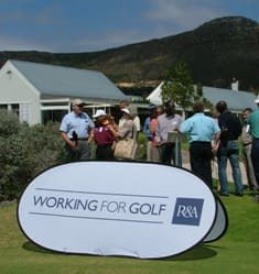 Group discussion with an R&A Official at Steenberg Golf Club in Cape Town