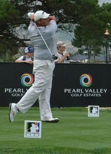 Adrian Ford, current squad member, on his way to making the cut in the SA Open last year