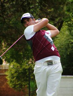 Dean O'Riley, a 71, one over par, the best round of the day amongst the South Africans participating