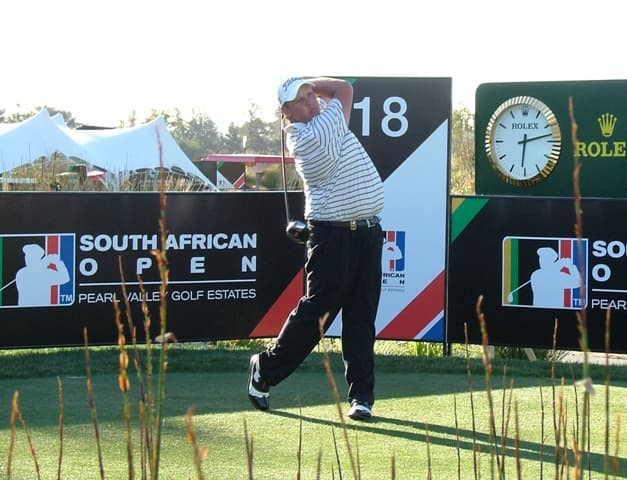 Adrian Ford, the leading amateur in SA Open after 1st Round
