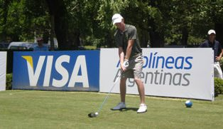 Daniel Hammond, whose second round of 72 helped South Africa improve their position on the team leader board.