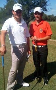Jared Harvey (left) with Stefan Anderson (Kenya).