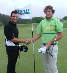 Jared Harvey (KZN) halved his match against Desne van der Bergh (Free State) (right)