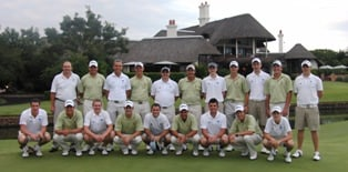 Both the Scottish and South African Teams at Leopard Creek