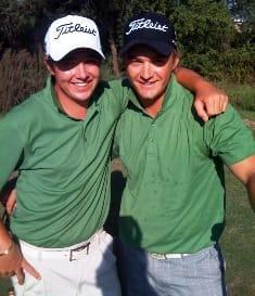 Allan Versfeld (left) winner with Steven van Heerden, whom he defeated in a short course playoff to win the Botswana Open