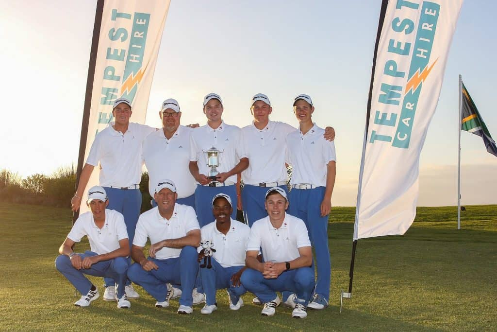 Western Province clinched the coveted promotion in the 58th South African Inter-Provincial Tournament with an unparalleled performance at Oubaai Golf Club; credit Pieter Els.