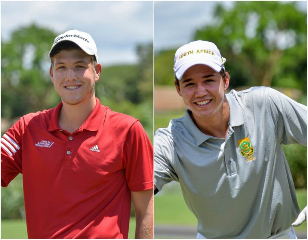 Luca Filippi from Western Province and Therion Nel from Free State will be representing South Africa in the Juan Carlos Tailhade Cup and the Argentine Amateur Championship in Argentina this November; credit Ernest Blignault.