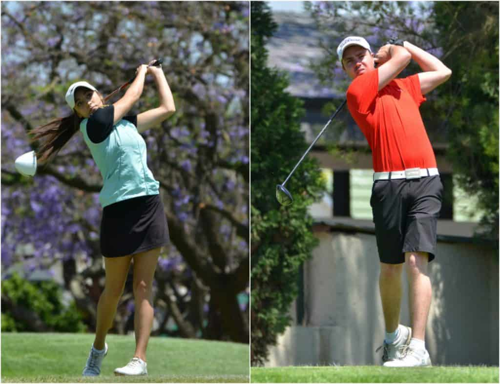 Mpumalanga's Ru-Jean Lessingh and Central Gauteng's Eleanora Galletti are in pole position to win the men's and ladies' Champion of Champions titles respectively.