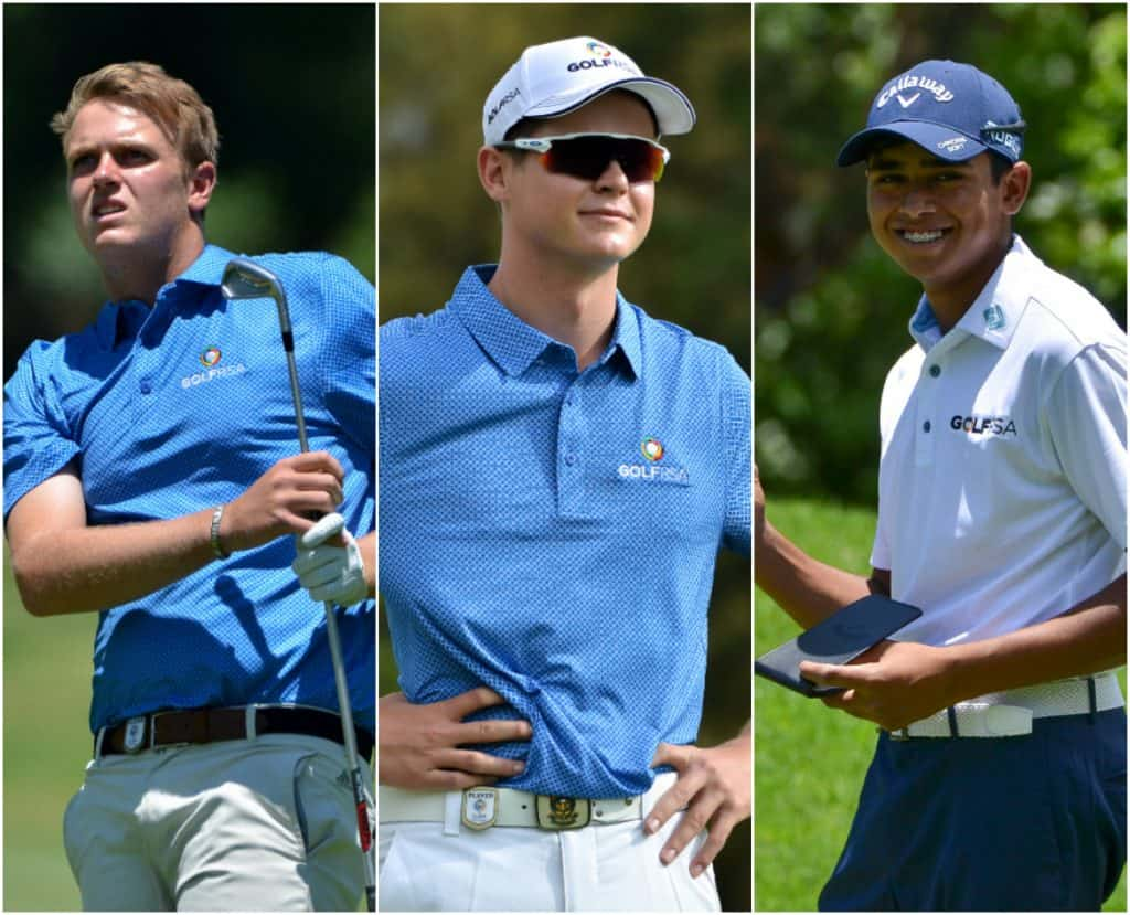 Deon Germishuys, Wilco Nienaber and Yurav Premlall will chase Jovan Rebula in pursuit of the Freddie Tait Cup in the 2019 SA Open, hosted by the City of Johannesburg at Randpark Golf Club.