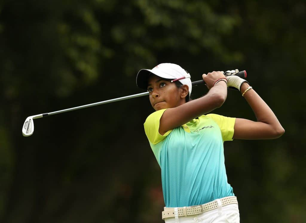 GolfRSA Elite Squad member Kaiyuree Moodley has a two-shot lead at the 36-hole mark of the 2019 Annika Invitational USA at the World Golf Village; credit GolfRSA.