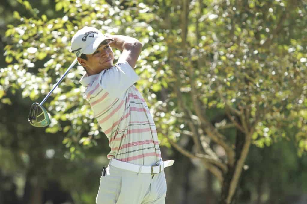 Fifteen-year-old GolfRSA National Squad player Yurav Premlall from Ekurhuleni advanced to the top 32 in the South African Amateur Championship at Mowbray Golf Club; credit Gavin Withers Photography.