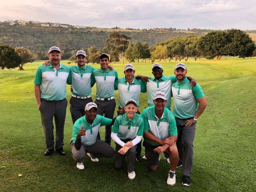 North West kept their title defence in the 2019 SA Country Districts on track with successive victories at Plettenberg Bay Country Club; credit GolfRSA.