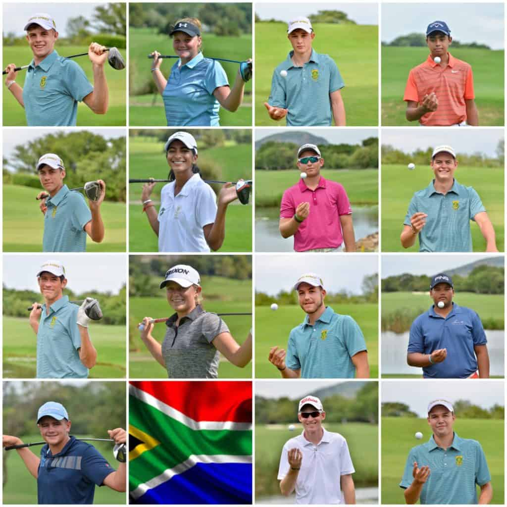 GolfRSA National Squad and Elite Squad members will represent South Africa on 2 continents this June; credit Ernest Blignault.