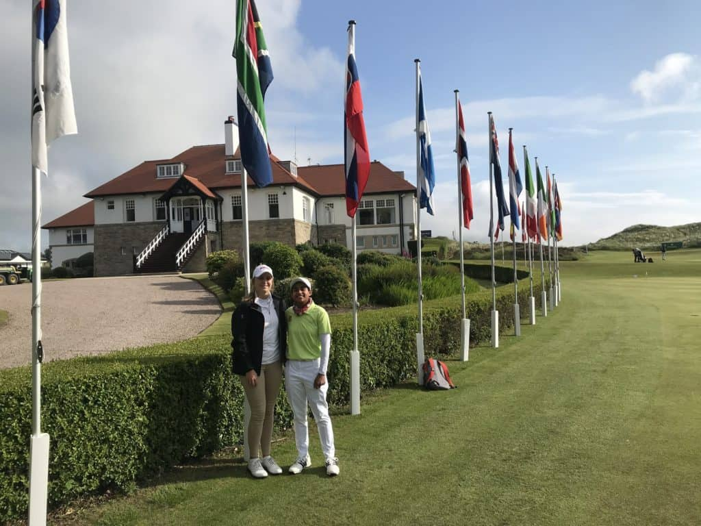 GolfRSA Elite Squad members Kaleigh Telfer (left) and Kajal Mistry from Gauteng will represent South Africa in the prestigious Women's Amateur at Royal County Down, starting on 11 June 2019; credit GolfRSA.