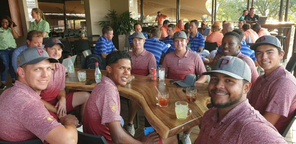 Central Gauteng celebrates a successful start to their title defence after an opening day win in the South African Inter-Provincial Tournament, sponsored by Tempest, at Mbombela Golf Club; credit GolfRSA.