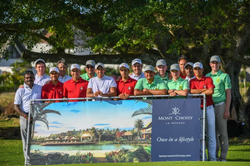 Champions GolfRSA Proteas with Mauritius (2nd) & Morocco (3rd) at All Africa Golf Team Championship at Mont Choisy Le Golf in Mauritius