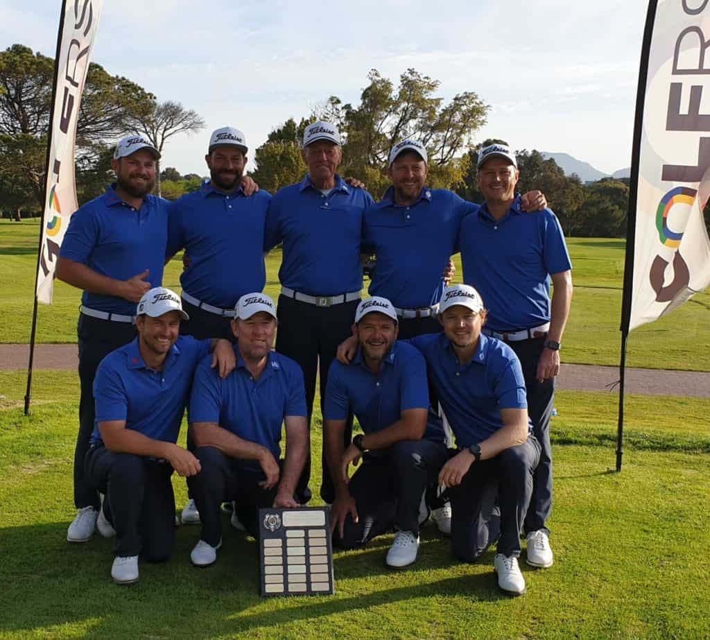 Gauteng North celebrated an historic first victory in the South African Mid-Amateur Inter-Provincial Tournament with an unbeaten performance at King David Mowbray Golf Club; credit GolfRSA.
