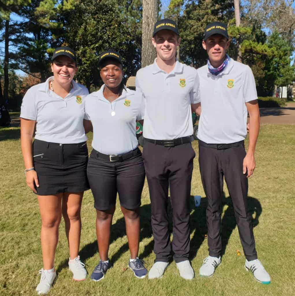 The GolfRSA Protea team did South Africa proud with a successful haul of accolades at The Spirit International Amateur Golf Championship in Texas; credit GolfRSA.