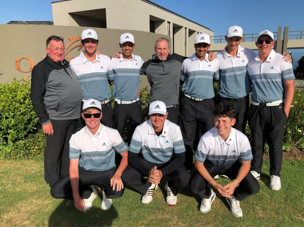 Ekurhuleni began their bid for a hat-trick of South African Under-19 Inter-Provincial titles on a high note with two convincing victories at Oubaai Golf Club; credit GolfRSA.