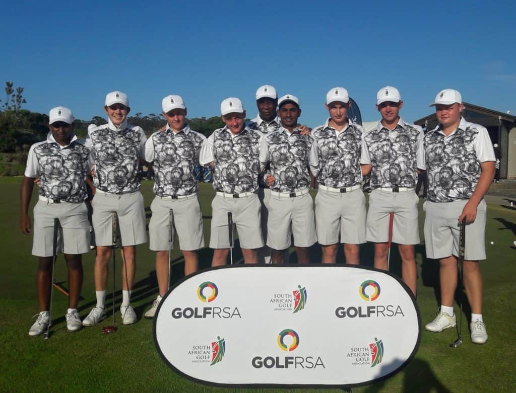 KwaZulu-Natal went on a tear for a second successive day, beating Northern Cape and Free State 11 – 1 for a commanding 4-point lead in the battle for promotion in the 2019 South African Under-19 Inter-Provincial at Oubaai Hotel, Golf and Spa; credit GolfRSA.