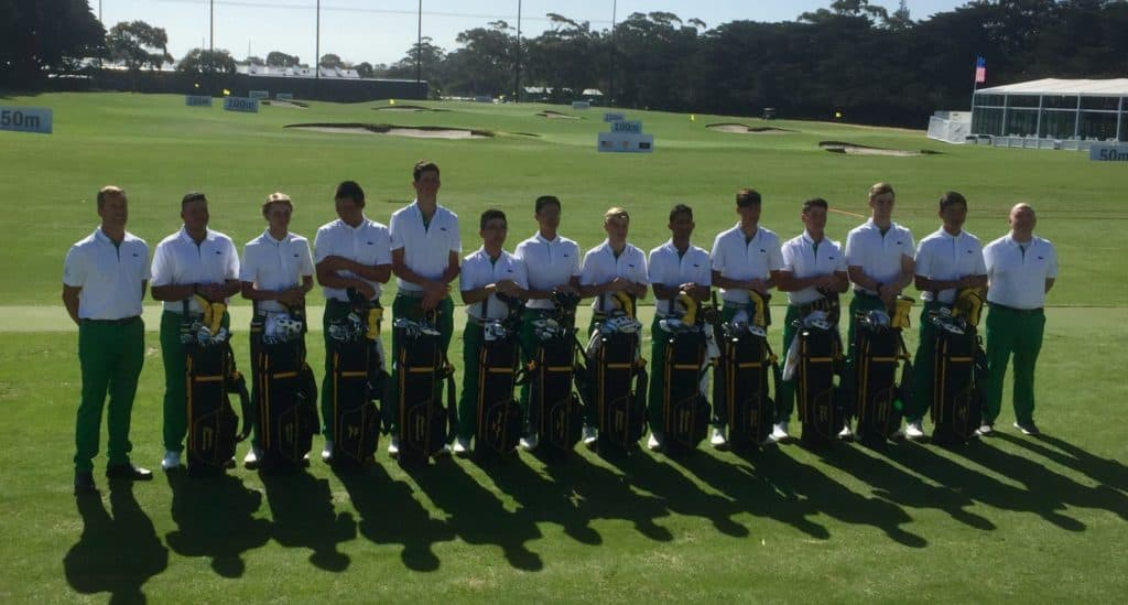 The International Team at the 2019 Junior Presidents Cup at The Royal Melbourne Golf Club in Australia; credit GolfRSA.