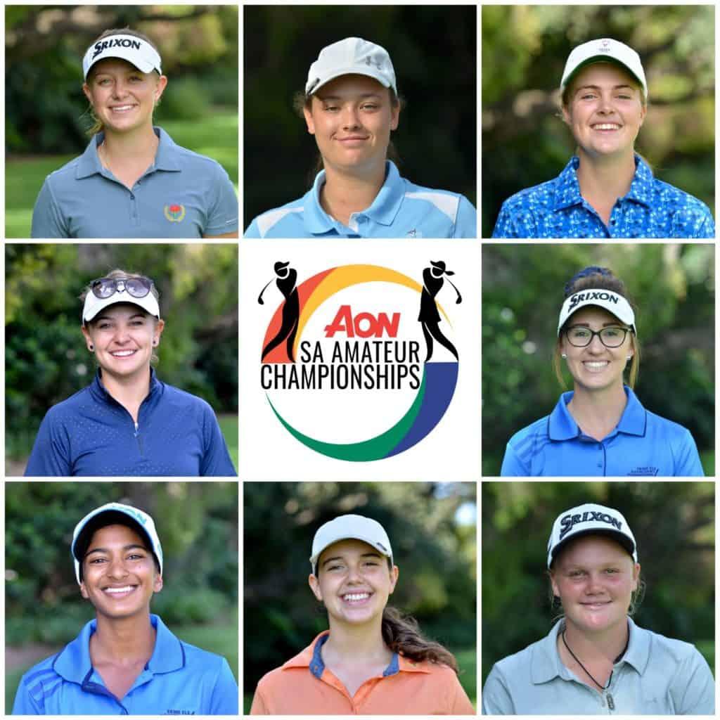 2020 Aon South African Women's  Amateur Championship Quarter-Finalists at Royal Johannesburg & Kensington Golf Club: credit Ernest Blignault