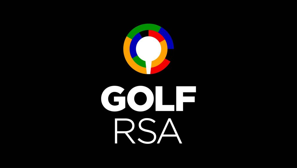 3B GOLF RSA tertiary logo B on black