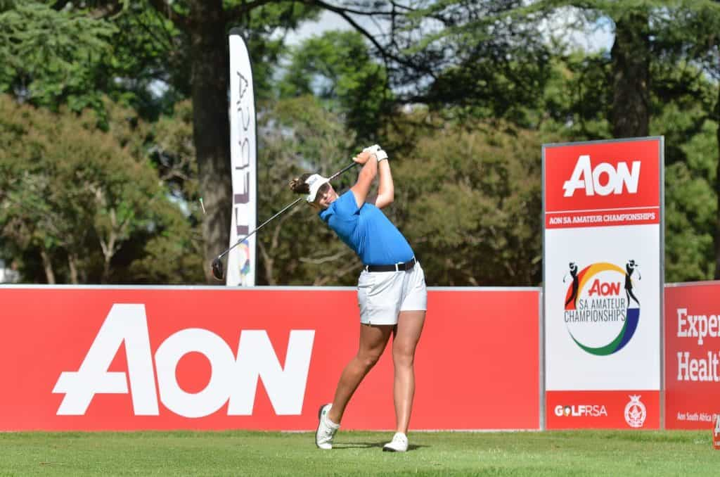 Megan Streicher during the 2020 AON SA Women's Amateur Championship; credit Ernest Blignault