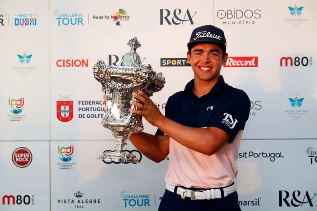 GolfRSA National Squad member Garrick Higgo broke through on the European Tour in the Open de Portugal; photo credit Getty Images