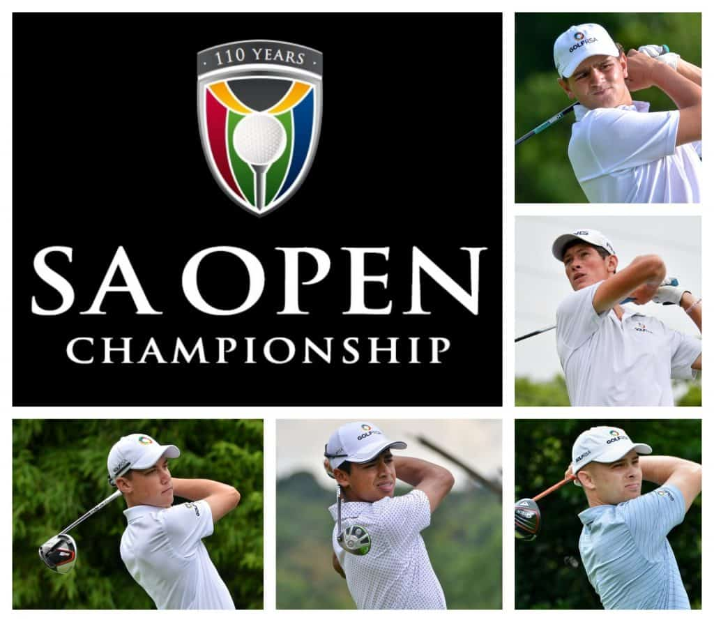 GolfRSA National Squad members Casey Jarvis, Kyle de Beer, Yurav Premlall, Sam Simpson & Christo Lamprecht will represent SAGA in the 110th SA Open at the Gary Player Country Club from 3-6 December 2020.