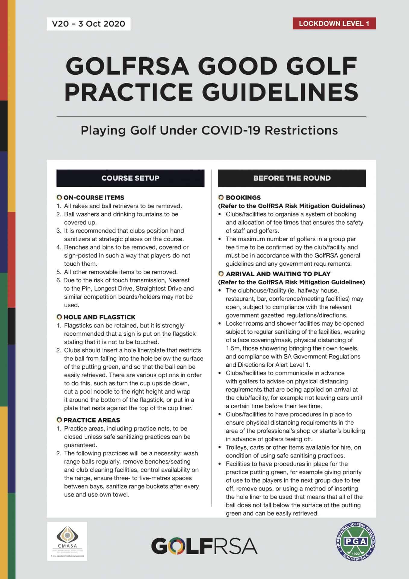 GolfRSA Good Practice Guidelines V20_with markup - 1