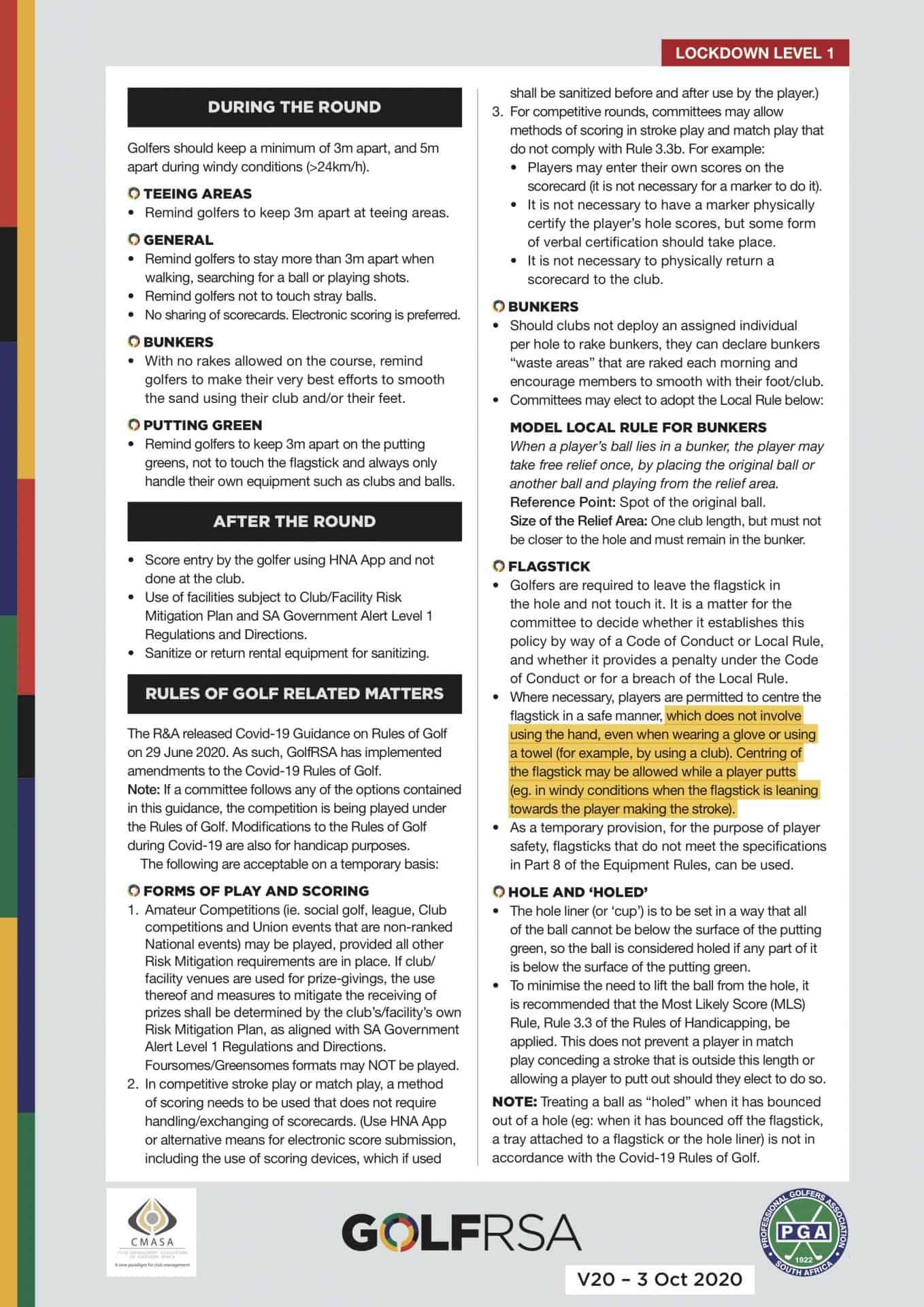 GolfRSA Good Practice Guidelines V20_with markup - 2