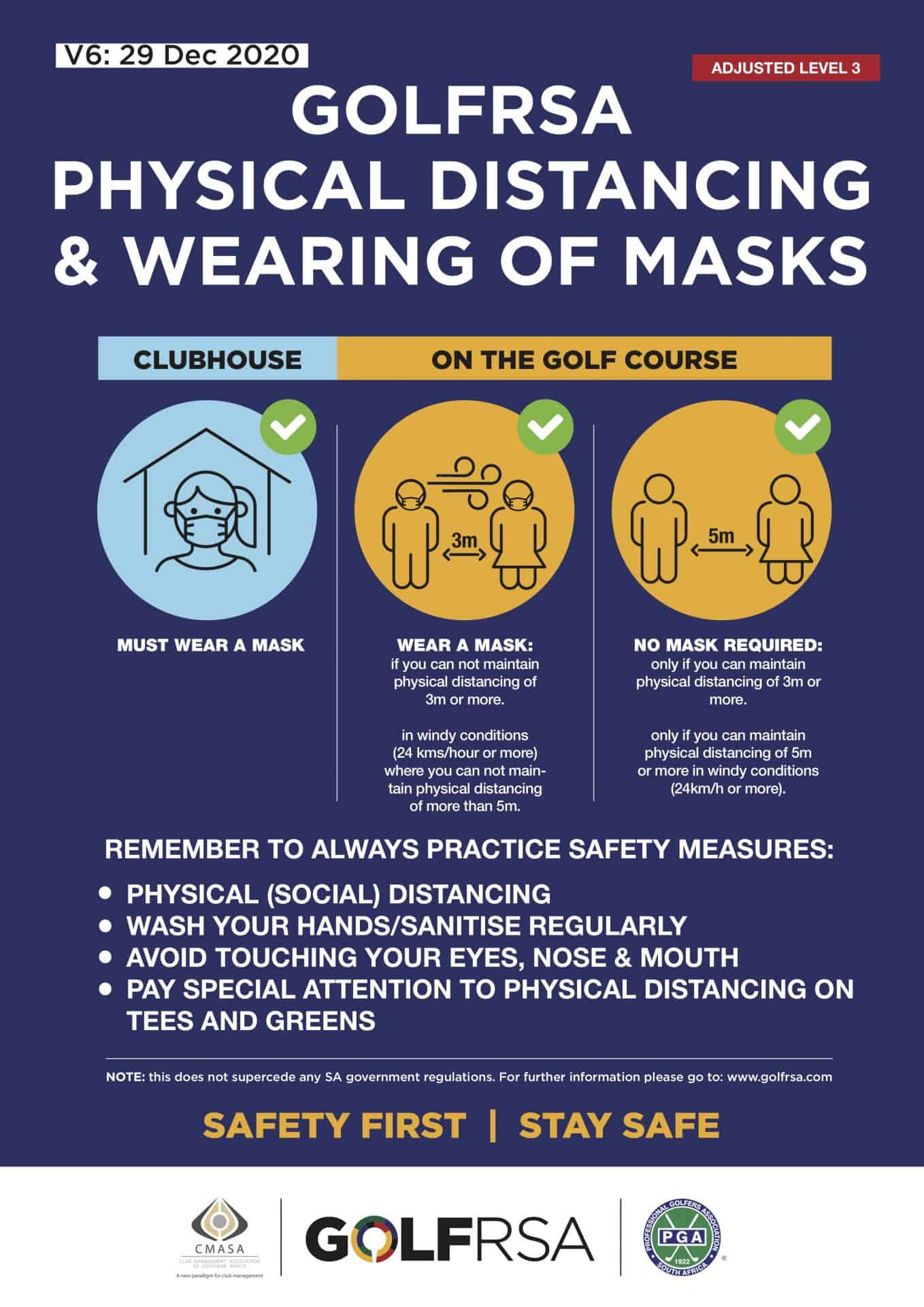 Golfer Safety Masks V6