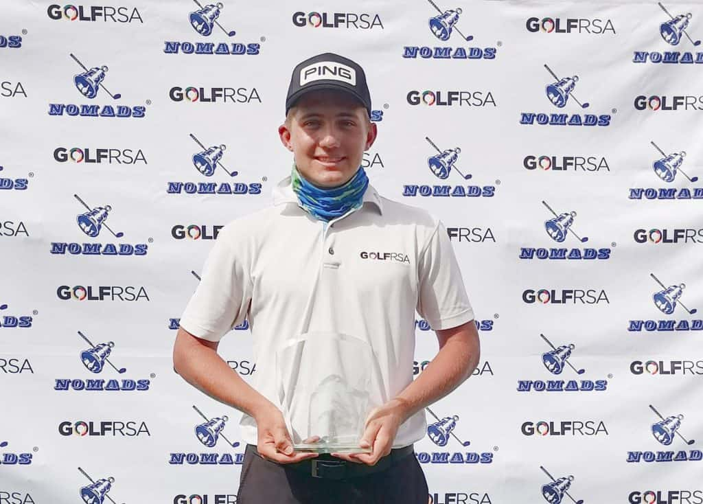 Christiaan Maas successfully defended his Nomads National Order of Merit Inland title with a runaway six-shot victory on 13-under-par at ERPM Golf Club; credit GolfRSA.