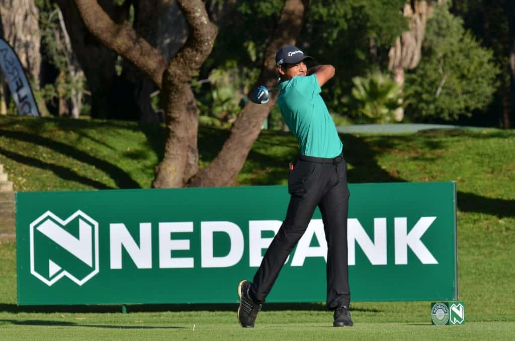 GolfRSA National Squad member Yurav Premlall from Glendower in action during the first round of the Nedbank Junior Challenge at the Gary Player Country Club; credit GolfRSA.