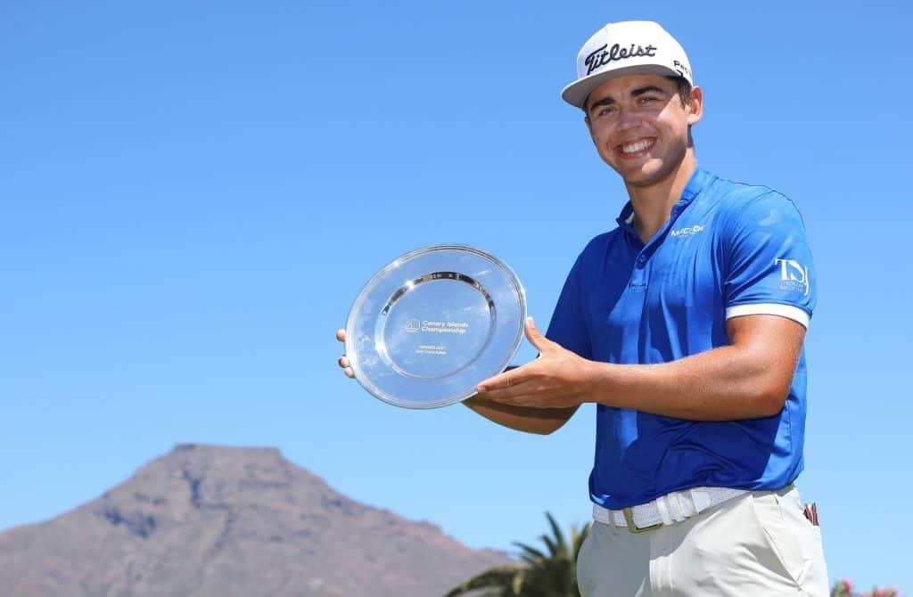 2021 Canary Islands Championship winner Garrick Higgo; credit European Tour / Getty Images