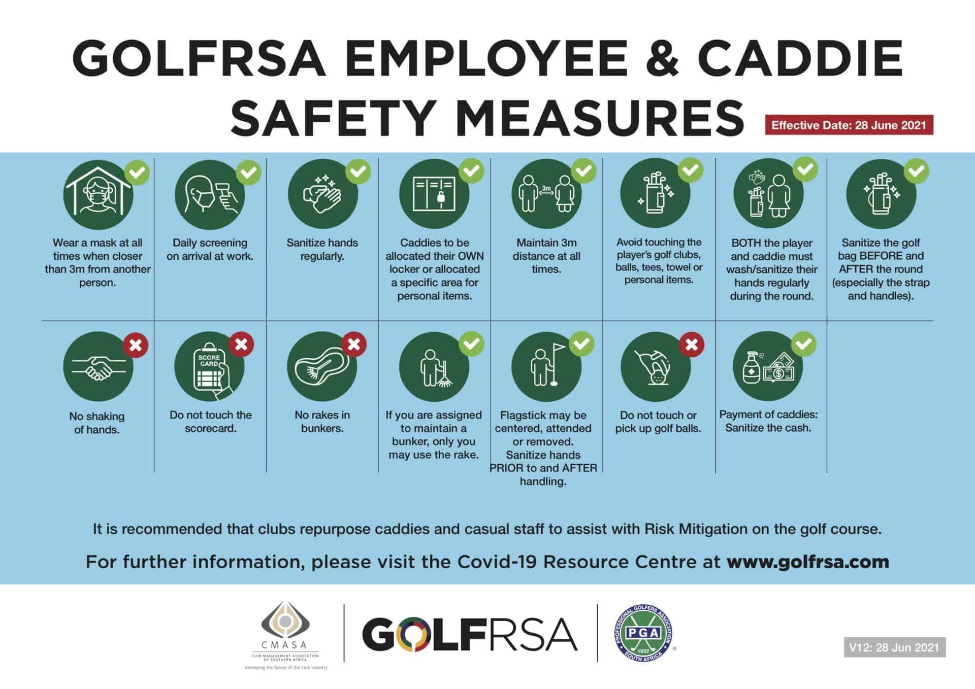 1 - ENG GolfRSA caddie and employee safety measures V12 - Jun 2021