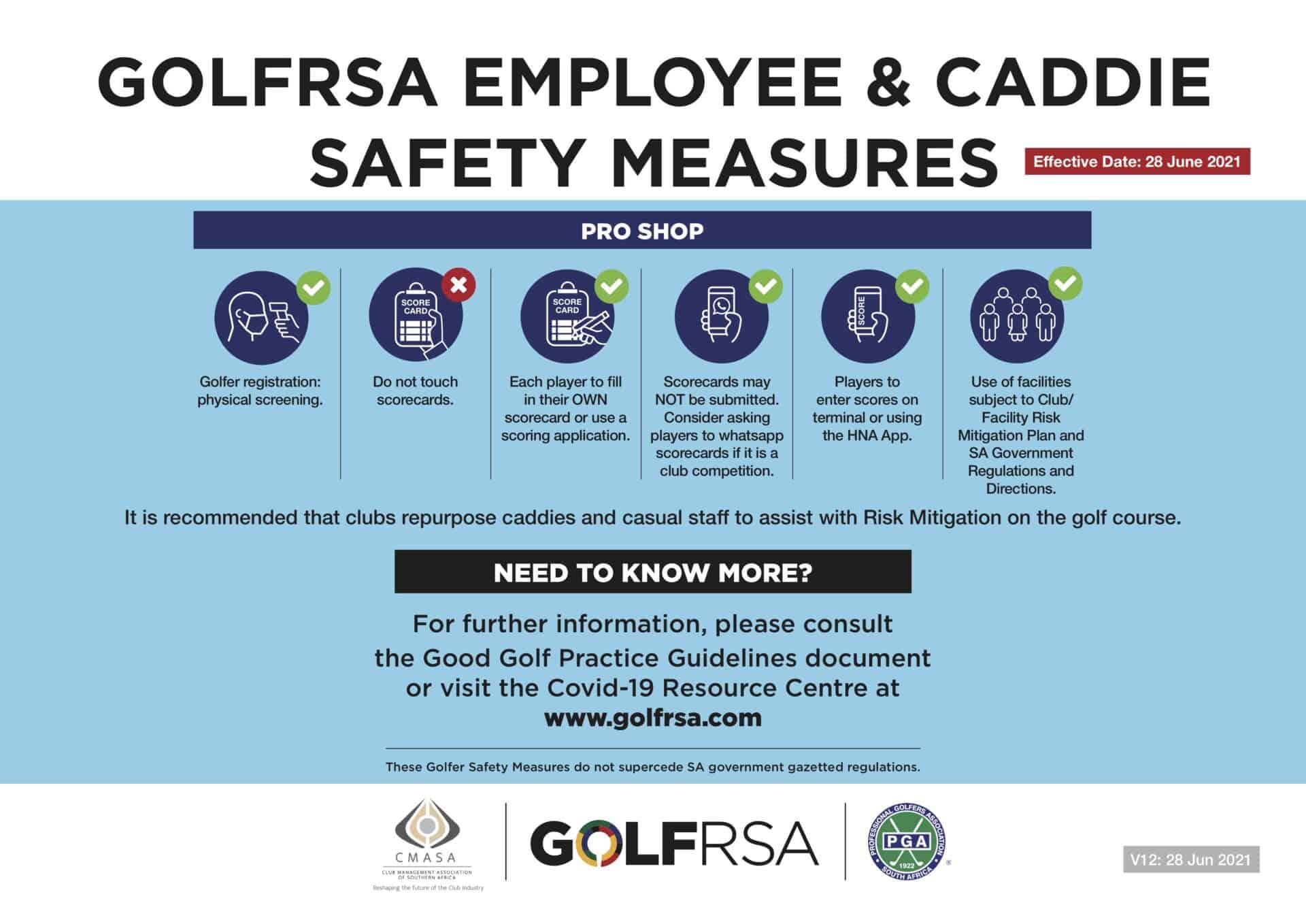 2 - ENG GolfRSA caddie and employee safety measures V12 - Jun 2021