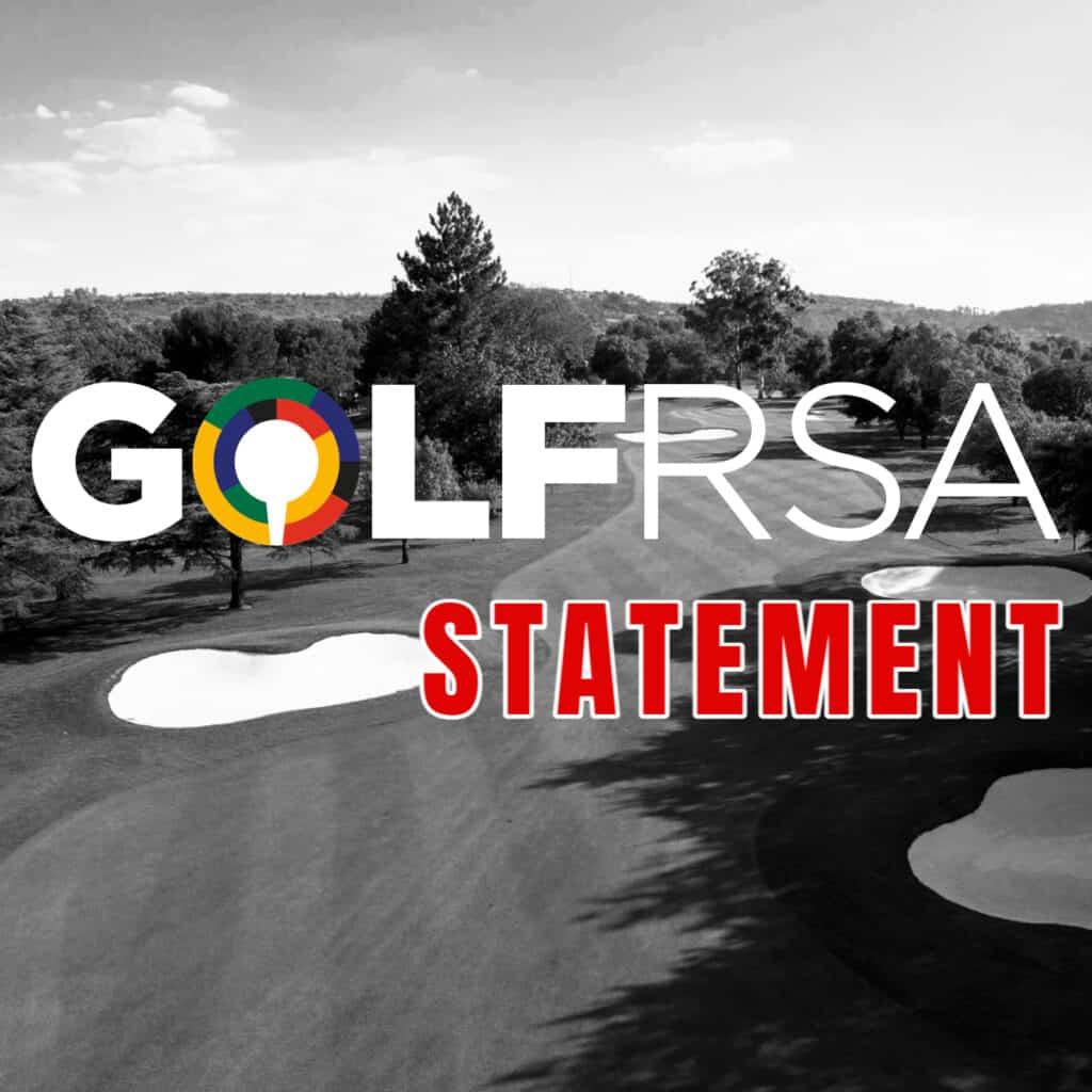 GolfRSA Statement