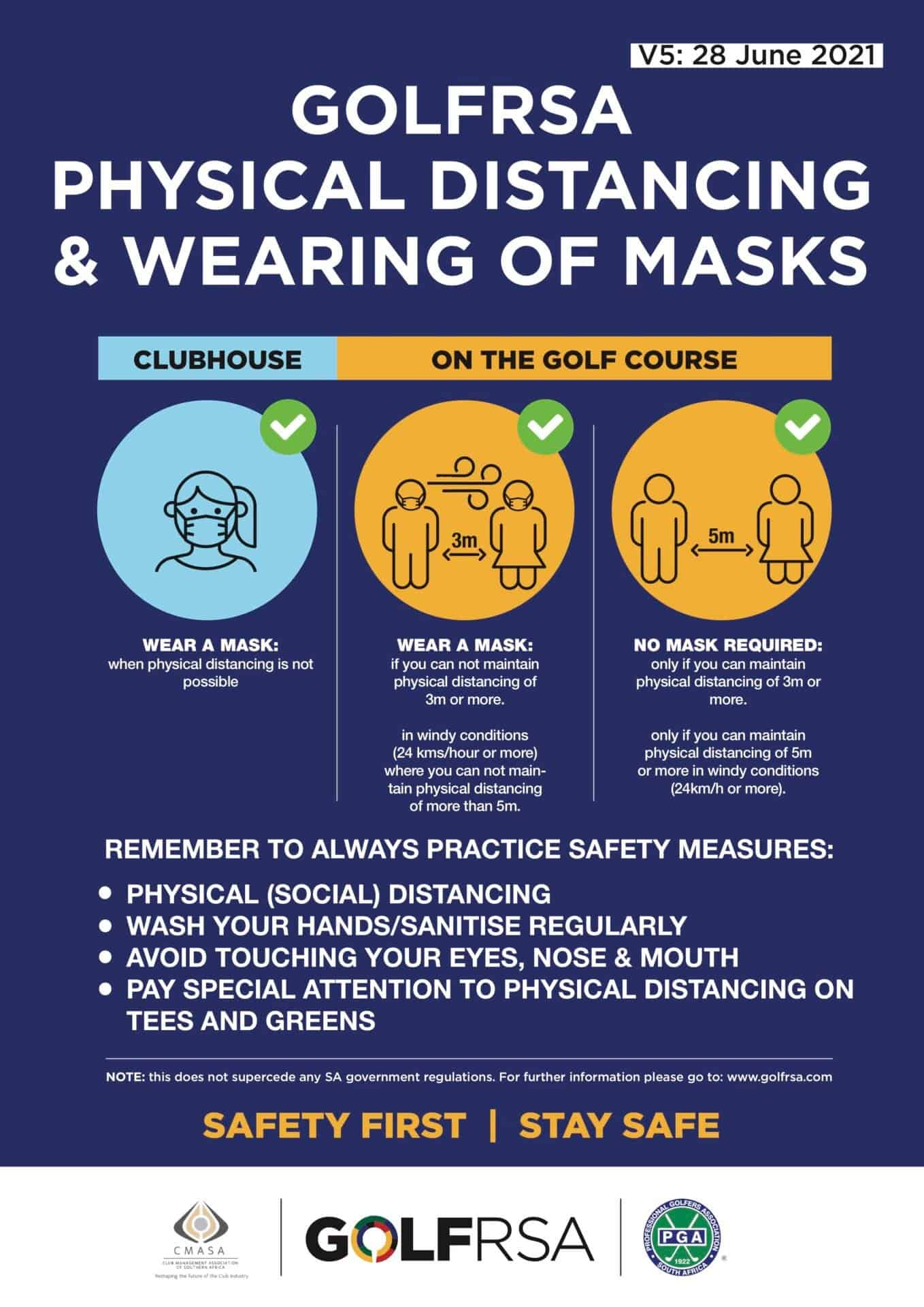 Golfer Safety Masks V5