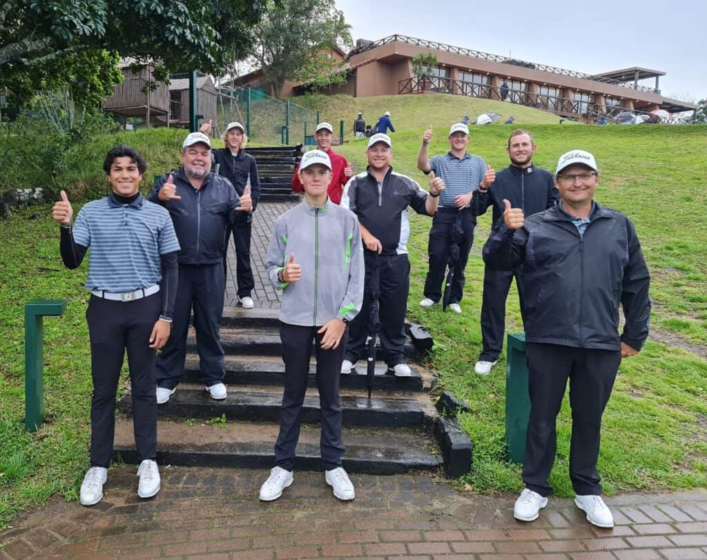 North West handed Western Province an 8.5 – 3.5 hiding to move into joint pole position on day four of the 2021 SA Inter-Provincial Tournament at San Lameer; credit GolfRSA.