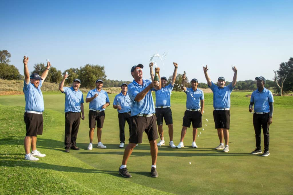 North West won the promotion battle in the ninth SA Mid-Amateur Inter-Provincial with an undefeated week at Elements Private Golf Reserve; credit Janine Pretorius