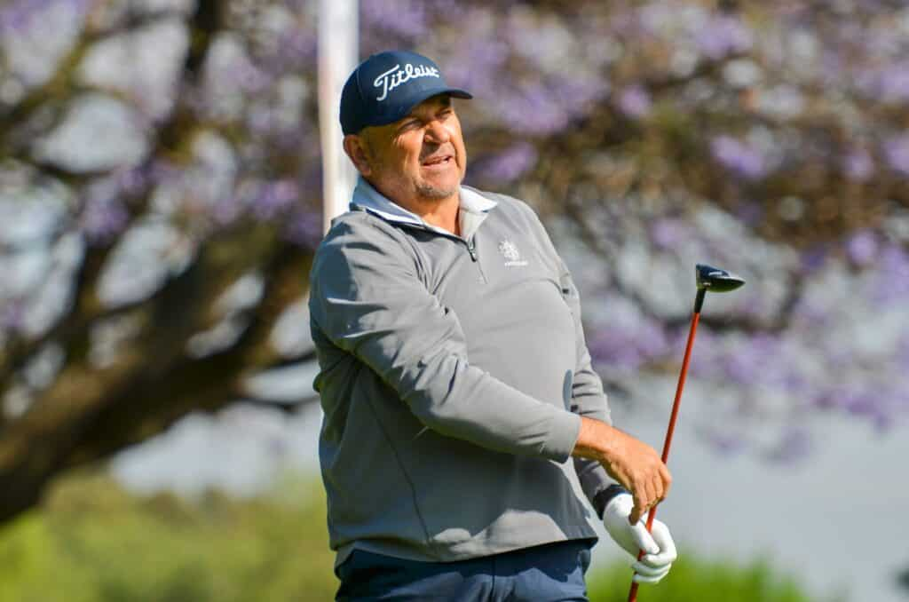 Former SA Mid-Amateur champion Graeme Watson from Ekurhuleni will vie for a unique SA amateur double in the final round of the 2021 SA Senior Amateur Championship at Glendower Golf Club on Friday; credit Ernest Blignault.